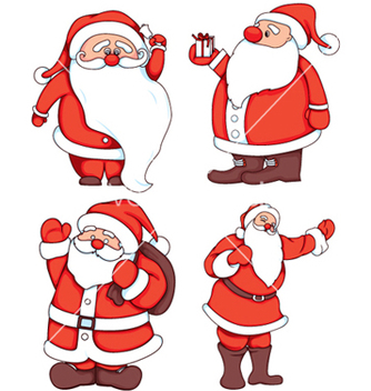 Free santa claus set vector - бесплатный vector #251089