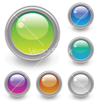 Free glossy buttons set vector - Free vector #251159