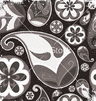 Free vintage grunge paisley wallpaper vector - Free vector #251549