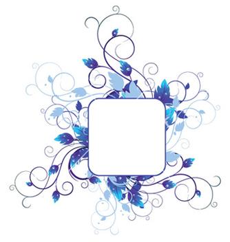 Free blue floral vector - Kostenloses vector #251619