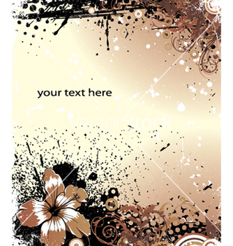 Free flower with grunge background vector - Free vector #251629