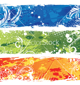 Free grunge web banners vector - Free vector #251819