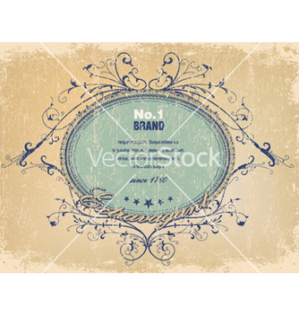 Free elegant label with grunge background vector - Kostenloses vector #251909