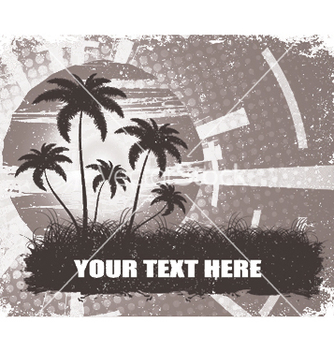 Free summer grunge background with palm trees vector - Free vector #251949