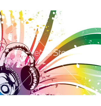 Free music background vector - vector gratuit #252199