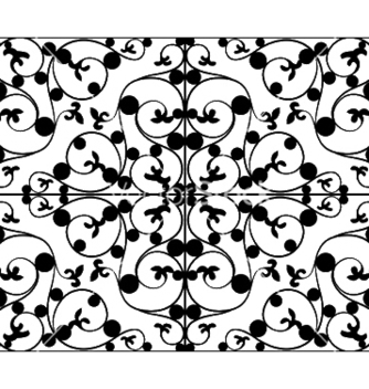 Free wrought iron seamless pattern vector - Free vector #252249