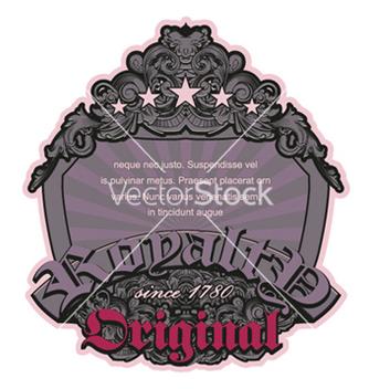 Free retro floral label vector - Free vector #252269