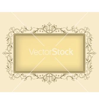 Free elegant floral frame vector - Free vector #252439