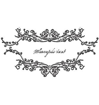 Free vintage floral frame vector - Free vector #253039