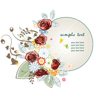 Free floral frame vector - Free vector #253109
