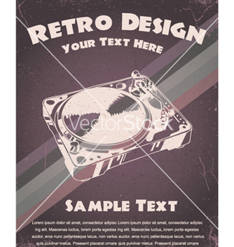 Free retro music poster vector - бесплатный vector #253139