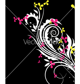 Free spring floral background vector - Free vector #253229