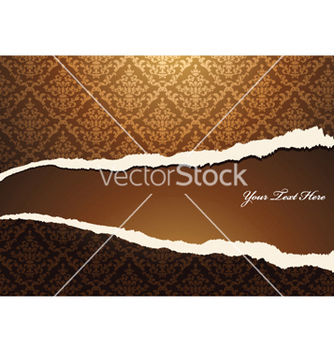 Free torn damask wallpaper vector - Free vector #253239