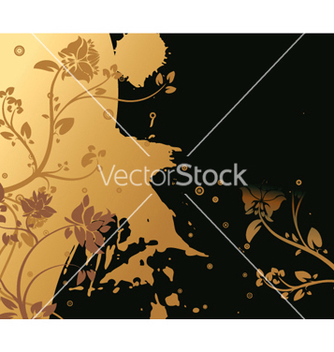 Free splash floral background vector - vector #253289 gratis