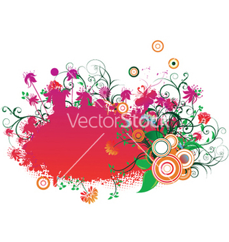Free floral frame with circles vector - Kostenloses vector #253369