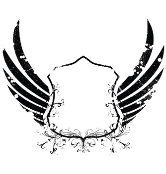 Free grunge retro emblem with shield vector - Kostenloses vector #253389