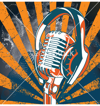Free concert poster with microphone vector - бесплатный vector #253439
