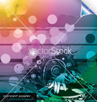 Free music background with dj and floral vector - Free vector #253449