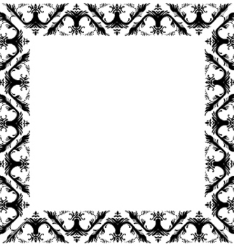 Free baroque floral frame vector - Free vector #253539