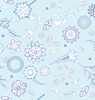Free seamless floral background vector - Free vector #253679