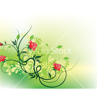Free splash floral background vector - vector gratuit #253699