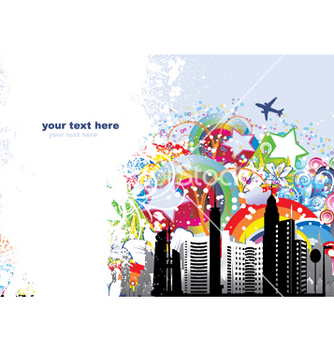 Free urban background vector - Free vector #253779