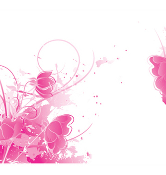 Free watercolor floral background vector - Free vector #253829
