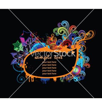 Free splash floral frame vector - бесплатный vector #253849