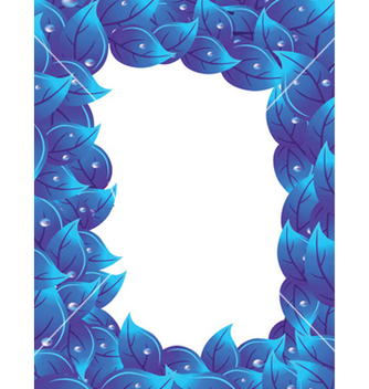 Free blue floral vector - Free vector #253889