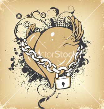 Free vintage heart vector - Free vector #254009