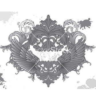 Free baroque floral vector - Free vector #254019