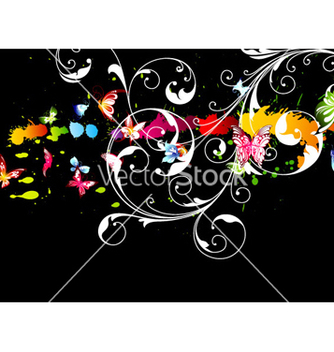 Free colorful floral background vector - Free vector #254089