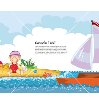 Free summer background vector - Free vector #254109