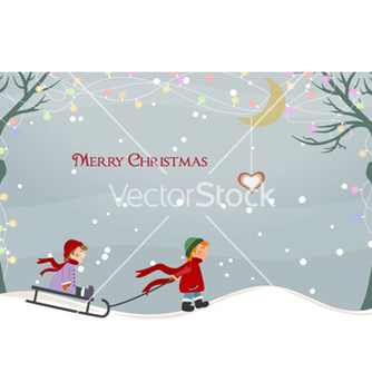 Free christmas greeting card vector - Kostenloses vector #254219