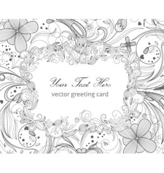 Free floral greeting card vector - Free vector #254389