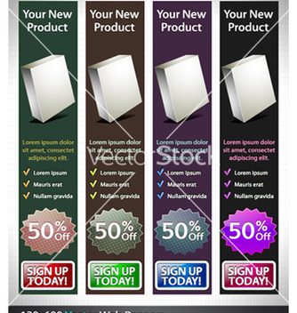 Free glossy banners set vector - Kostenloses vector #254449