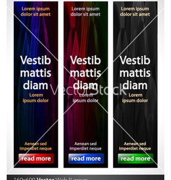 Free glossy banners set vector - Kostenloses vector #254499