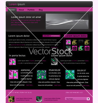 Free website template vector - Free vector #254579