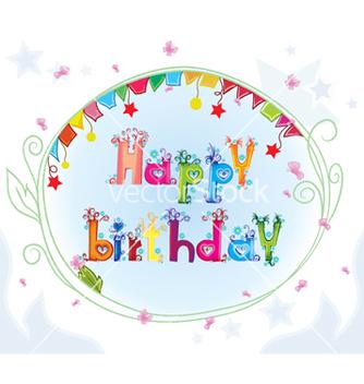 Free happy birthday vector - Kostenloses vector #254909