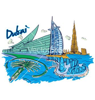 Free dubai doodles vector - бесплатный vector #255029