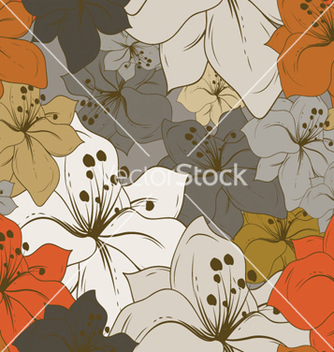 Free floral seamless pattern vector - Free vector #255239