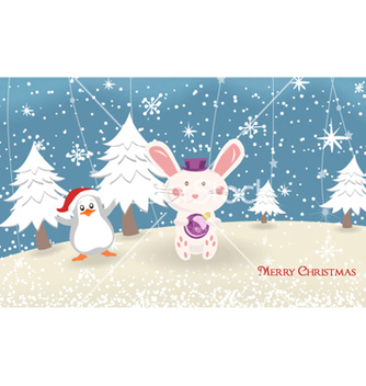 Free bunny with penguin vector - Free vector #255319