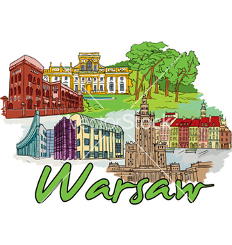Free warsaw doodles vector - vector #255409 gratis