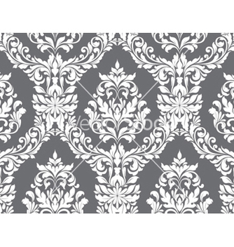 Free damask seamless pattern vector - Kostenloses vector #255579