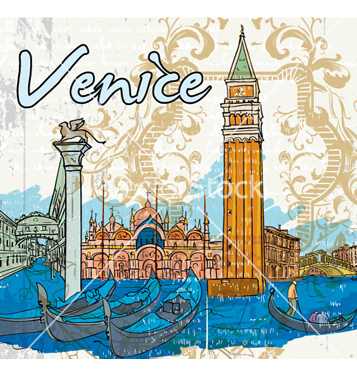 Free venice doodles vector - Free vector #255589