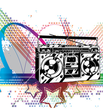 Free colorful music background vector - Kostenloses vector #255759