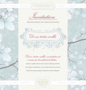 Free vintage invitation vector - Free vector #256059