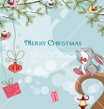 Free christmas greeting card vector - Kostenloses vector #256189