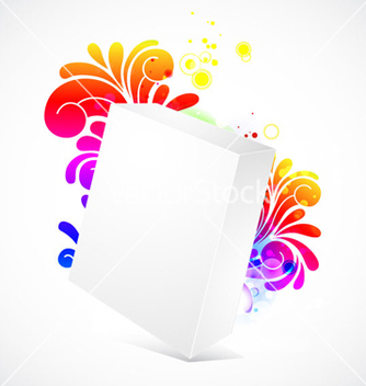 Free 3d blanck box with floral background vector - бесплатный vector #256299