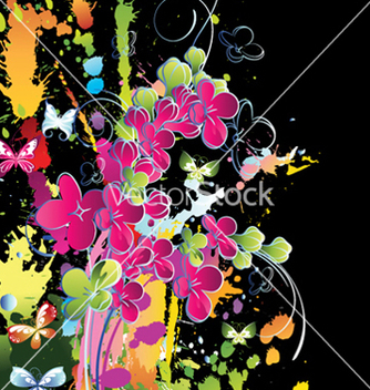 Free watercolor floral background vector - Free vector #256659